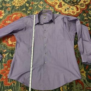 Fitted blue stripped dress shirt